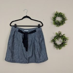 LOFT | Chambray High Waist Skirt 6